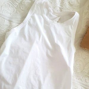 All Tied Up Tank - White, Size 4